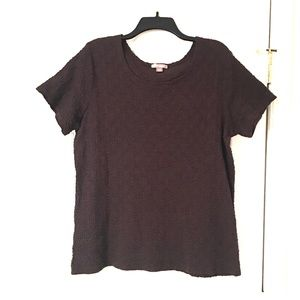 White Stag brown short sleeved blouse